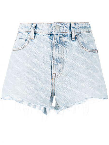Джинсовые шорты классические - синие Alexander Wang