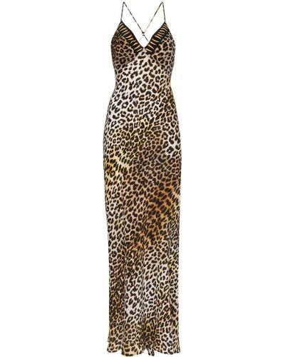 Классическое вечернее платье в рубчик на бретелях на молнии Rockins