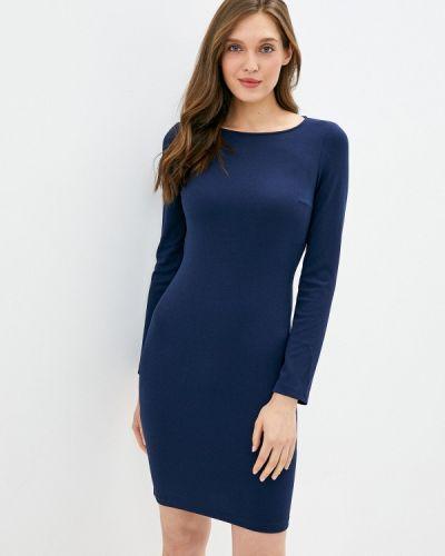 Синее прямое платье Imperial