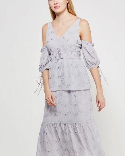 Серое платье весеннее Lost Ink.