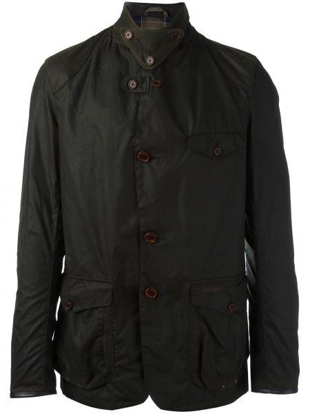 Зеленая шерстяная куртка Barbour
