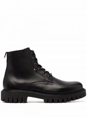 Ботильоны на каблуке - черные Tommy Hilfiger