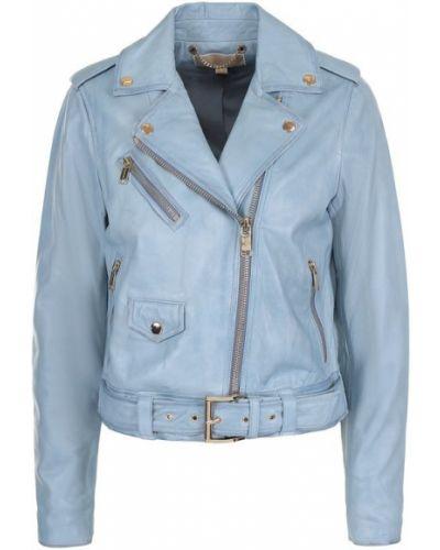 Кожаная куртка с карманами на кнопках на молнии Michael Michael Kors