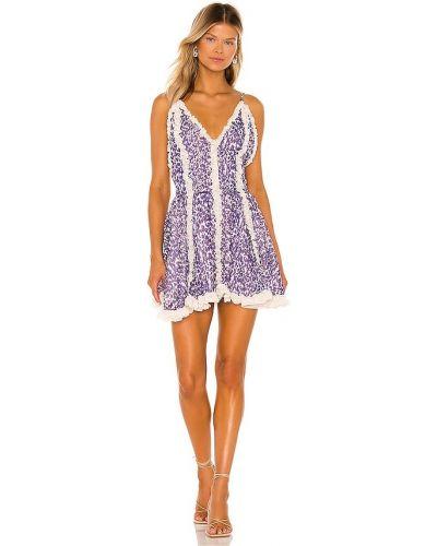 Fioletowa włoska sukienka Chio