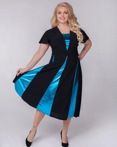 Вечернее платье миди со вставками Sparada