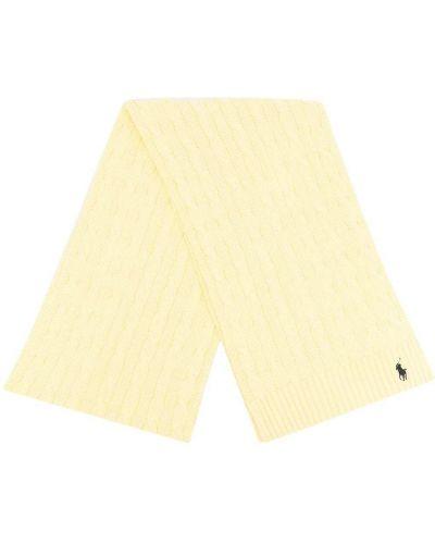 Szalik bawełniany - żółty Polo Ralph Lauren