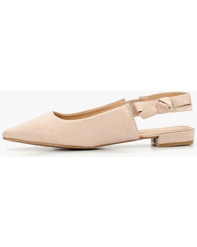 Туфли на каблуке с открытой пяткой замшевые Damerose