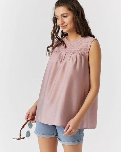Блузка с открытыми плечами розовая весенний Fly