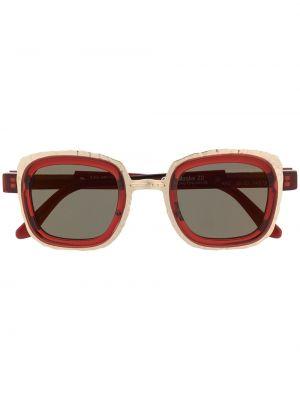 Солнцезащитные очки металлические - красные Kuboraum