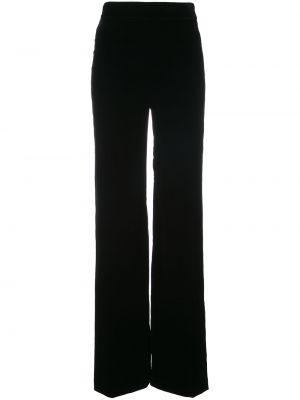 Бархатные черные брюки эластичные Marchesa