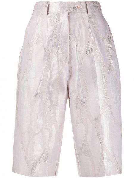 Розовые шорты на пуговицах металлические Atu Body Couture