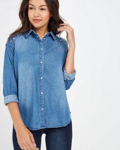 Синяя джинсовая рубашка с запахом Modis