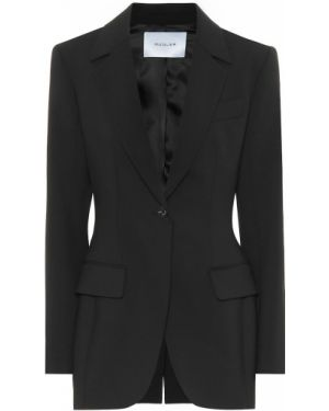 Черный классический пиджак с подстежкой Mugler