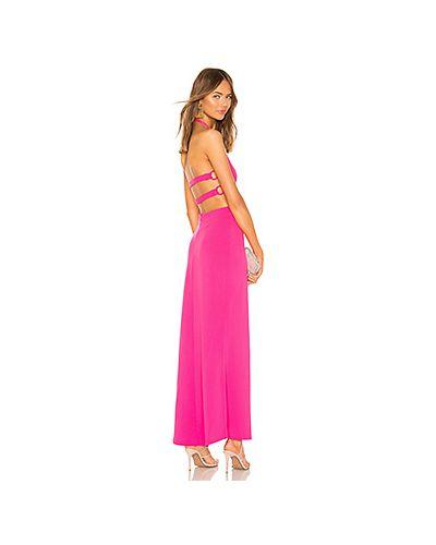 Платье макси розовое на пуговицах By The Way.