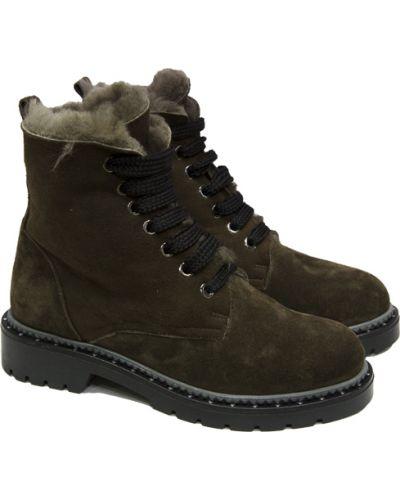 Кожаные ботинки - зеленые Tucino