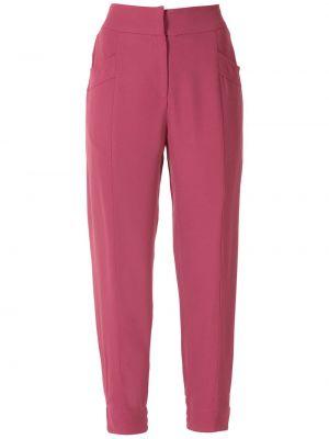 С завышенной талией красные брюки с карманами Martha Medeiros