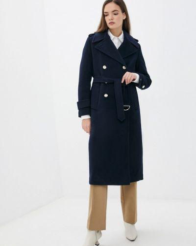 Пальто двубортное - синее Tommy Hilfiger