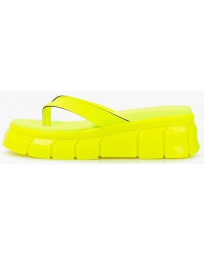 Желтые кожаные сабо Lamania