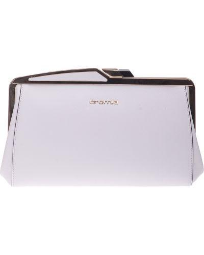 Кожаный клатч - белый Cromia