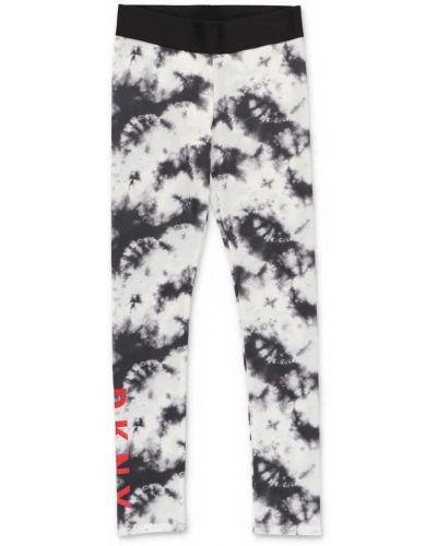 Białe legginsy Dkny