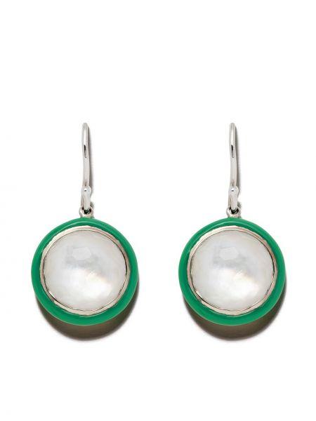 Зеленые серебряные серьги с подвесками на крючках Ippolita