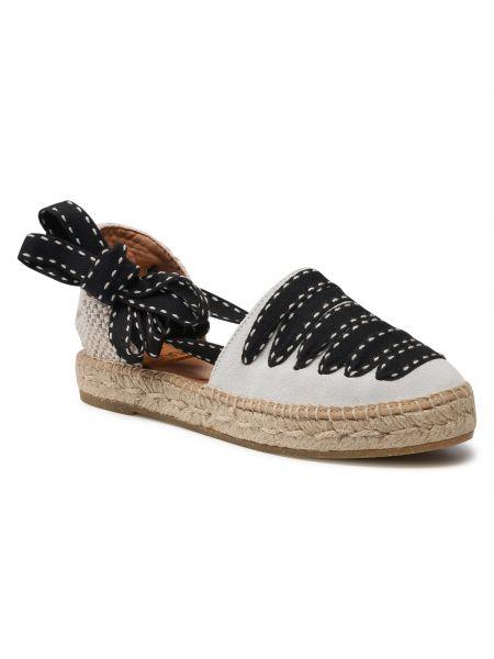 Sandały espadryle - białe Kanna