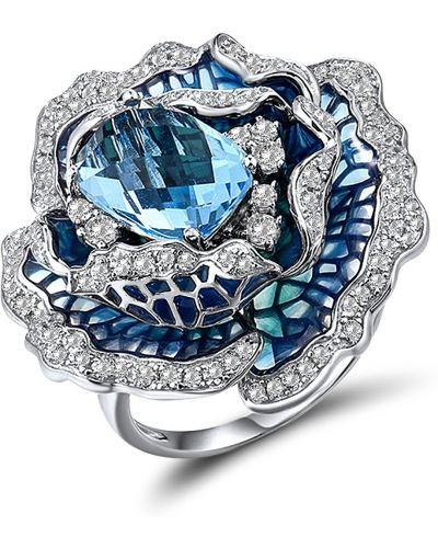 Кольцо со вставками - белое Lurie Jewelry