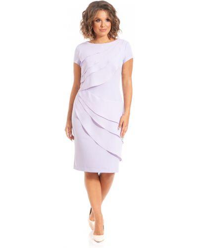 Шифоновое платье миди с разрезом с оборками Merlis