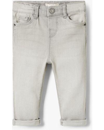 Серые джинсы с карманами Mango Kids
