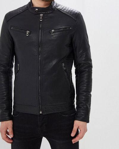 Кожаная куртка черная Jackets Industry