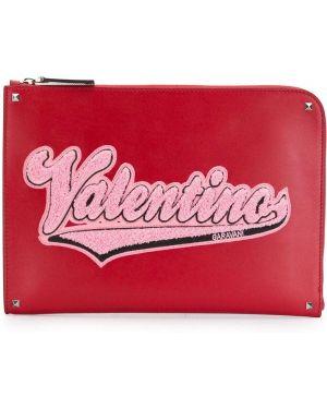 Torba sprzęgło skórzany dla dokumentów Valentino