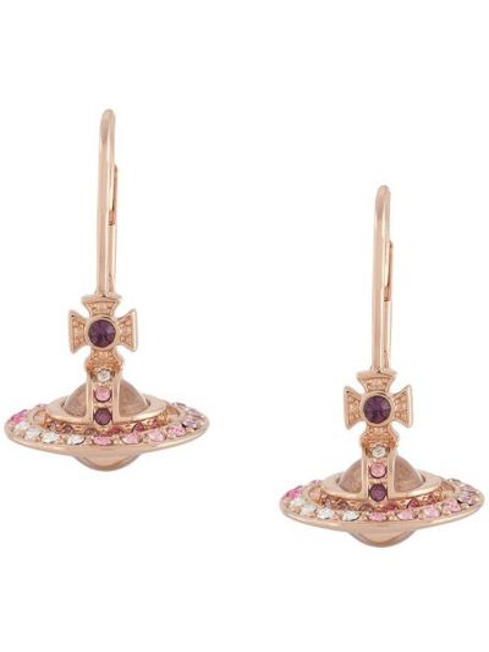 Złote kolczyki sztyfty Vivienne Westwood