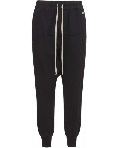 Czarne spodnie bawełniane Rick Owens