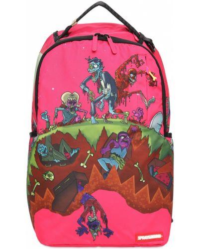 Рюкзак с принтом - розовый Sprayground