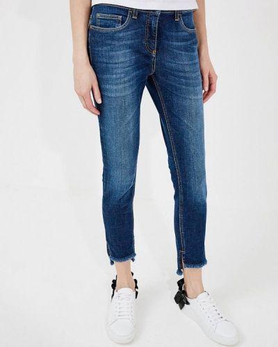 Синие джинсы-скинни Elisabetta Franchi
