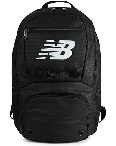 Текстильный черный рюкзак с карманами New Balance