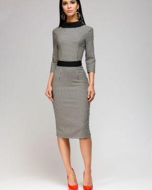 Платье миди повседневное с V-образным вырезом 1001 Dress