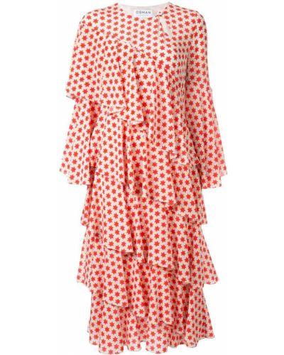 Платье миди на пуговицах с вырезом Osman