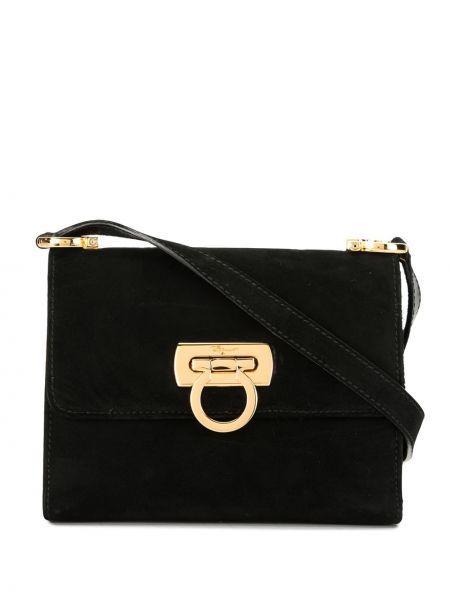 Черная сумка через плечо с перьями Salvatore Ferragamo Pre-owned