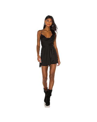 Свободное кружевное черное платье Free People