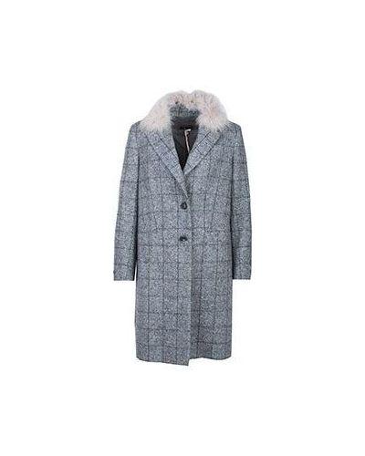 Хлопковое серое пальто Peserico