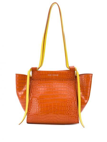 Желтая кожаная сумка Elena Ghisellini