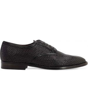 Кожаные туфли на каблуке на шнурках Silvano Sassetti
