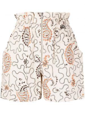 Оранжевые хлопковые шорты с карманами Isabel Marant étoile