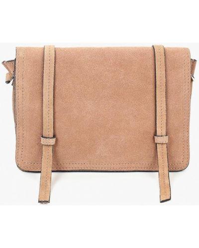 Бежевая сумка через плечо Mango