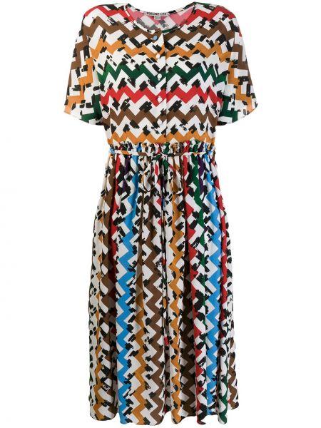 Расклешенное платье миди Edeline Lee