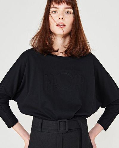 Блузка однотонная с поясом Simple