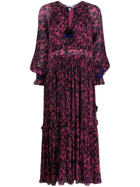 Платье макси розовое с цветочным принтом Derek Lam 10 Crosby