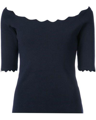Блузка прямая с открытыми плечами спущенная Milly