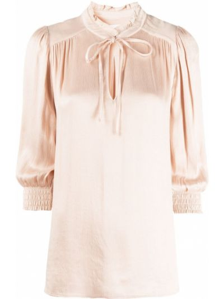 С рукавами блузка с воротником с оборками Ba&sh